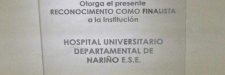 HUDN Recibió reconocimiento como finalista del Galardón a la excelencia en Nutrición Hospitalaria